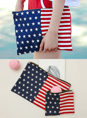 Stars and Stripes クラッチバッグ