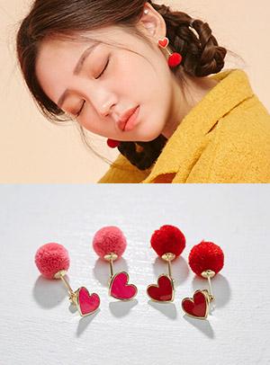 하트가 퐁퐁퐁 earring