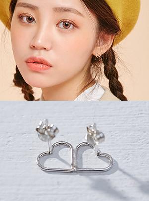속이 꽉 찬 하트보다 텅빈하트가 더 이뻐 earring